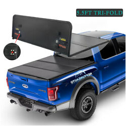 5.5ft Hard Truck Bed Tonneau Cover For 14-21 Tundra Extra 3-fold 14mm Thickness