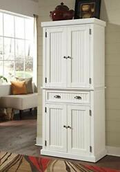 Home Styles Nantucket Pantry - White Distressed Finish