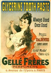 Glycerine Tooth Paste French Advertising Poster Print