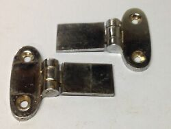 Antique Vintage Pair Of Nos Stainless Steel Boat Sail Boat Hinge Parts