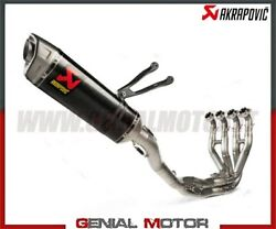 Full System Exhaust Carbon/stainless Steel Akrapovic For Kawasaki Zx-10 R 2021