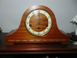 Vintage Welby Westminster Chime Mantle Clock With Key Germany
