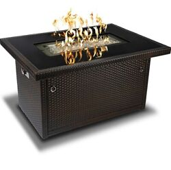 Brown 44-inch Outdoor Propane Gas Fire Pit Table