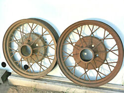 1930 1931 Ford Model A Oem 19 X 3 Inch Wheel Rims Pair 2 Used 28 29 5on5.5