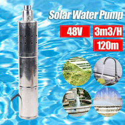 Deep Well Submersible Pump Solar Water Pump For Pond Fountain Pool 3m³/h 120m
