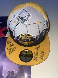 Lavar Ball Signed Lakers Hat Lamelo And Liangelo Draft Predictions Giveawaywin