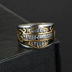 2021 Harley Davidson Biker Bar And Shield Stainless Steel Band Ring Size 7-14 Mens