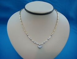 18k Yellow Gold And 0.75 Ct T.w. Diamonds Heart Necklace 20.3 Grams