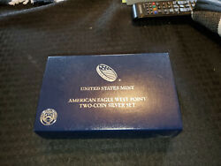 2 - 2013 Us West Point Mint American Eagle Two-coin Silver Proof And Reverse Set