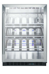 Summit Scr610blch 24w Bottle Capacity Built-in Wine Cooler - Stainless Steel