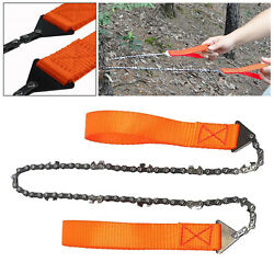 Camping Hunting Emergency Pocket Chainsaw Gadget Scouts Saw Backpacking Kit Tool $21.81