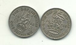 Higher Grade Both Versions 1948 Great Britain 1 One Shilling Coin-jan365