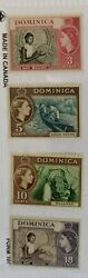 Dominica Stamps 1957 Scott 157 Mlh And 158-160 Mnh Cultures And Ethnicities