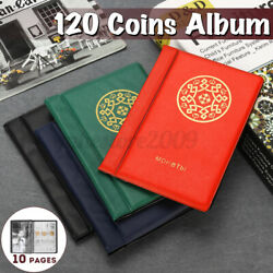 Rectangle 120 Coins Holders Collecting Collection Storage Money Album Book Home