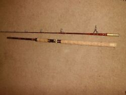 Vintage Garcia Conolon B552t Spinning 7and0396 Rod Made In Usa- 10-40 Lb Test