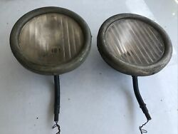 1915-25 Model T Ford Original Headlight Bucket With Glass Coupe Sedan Roadster