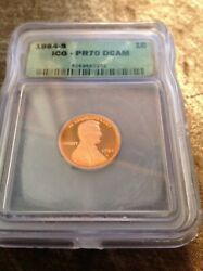 1984-s Lincoln Cent Proof 70 Deep Cameo Graded By Icg