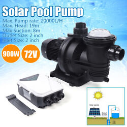 72v Dc Brushless Solar Water Pump Dc Motor W/mppt Controller For Fountain Pool