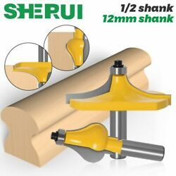 2pc 12mm Shank Thumbnail And Beaded 2 Bit Handrail Router Bit Set Line Knife Woodw