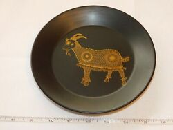 Portmeirion Pottery Capricorn The Goat Black Decorative Plate 7 Pre-owned