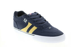 Globe Encore 2 Gbenco2 Mens Blue Suede Skate Inspired Sneakers Shoes