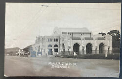 1935 Singapore Straits Settlements Real Picture Postcard Cover Fmsr Station