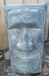 Tiki Easter Island Face Free Standing Statue Mold Poly Plastic 10 X 5 X 3