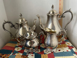 Vintage W.m. Rogers And Son 4 Piece Coffee And Tea Set Silver