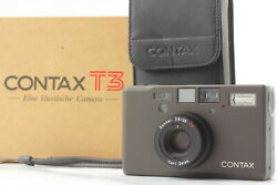 Boxed [top Mint] Contax T3 D T3d Black Point And Shoot 35mm Film Camera From Japan