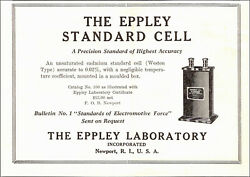 Eppley Standard Cell Ad Instruments Unsaturated Cadmium Cell Eppley Lab 1930