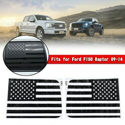 Rear Window Cover Trim Us Flag Decor Stickers Decal For Ford F150 Raptor 09-14
