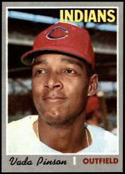 1970 Topps 445 Vada Pinson Indians 8 - Nm/mt