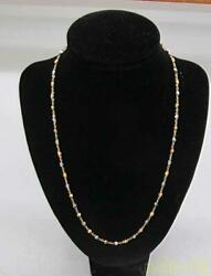 Necklace Without Jewels K18pt850 Combination 10.9g
