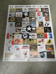 Us Army Air Corps Usaac Usaf Ww2 Squadron Nose Aviation Art Patch Poster Print