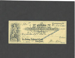 1914 First National Bankcooperstownny Bank Check