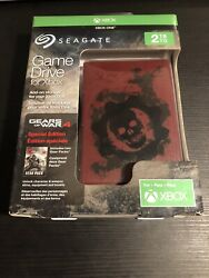 Seagate Xbox One Gears Of War 4 Limited Edition 2tb Hard Drive Brand New Sealed