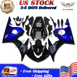 Ftb Injection Mold Fairing Fit For Yamaha Yzf 03-05 R6and06-09 R6s Blue Black R044