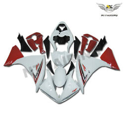 Ftb Glossy White Red Injection Abs Fairing Fit For Yamaha 2009-2011 Yzf R1 R003