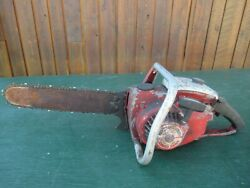 Vintage Remington Pl-4 Chainsaw Chain Saw With 14 Bar With Log Spike