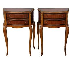 Pair Of Antique/ Vintage French Louis Xv Style End Side Tables Nightstands