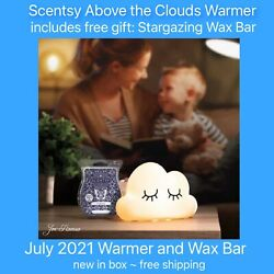 Scentsy Above the Clouds warmer with Stargazing Wax Bar *new *FREE SHIPPING