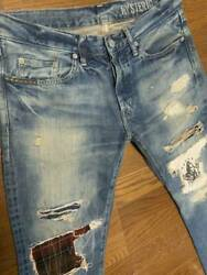 Hysteric Glamour Hys Cr Processed Studded Denim Size 32 Menand039s Ja123