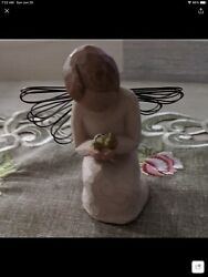 Willow Tree Figurine Angel Of Miracles 2002 With Bird