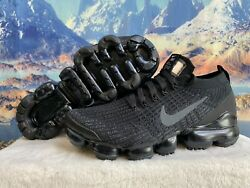 Size 7.5 -nike Womenand039s Air Vapormax Flyknit 3 And039triple Blackand039 Aj6910-002