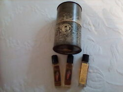 Vintage Kama Sutra Oil Of Love In Orginal Can With 3 Bottles Oil Rose Poison