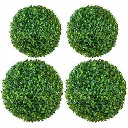 4 Pack Boxwood Artificial Plant Topiary Balls- 16in 3 Layers Realistic Ball Shap
