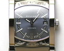 Bvlgari Assioma 44mm Automatic Aa44c14sld Blue Gray Dial Stainless Steel Men's