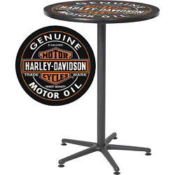 Harley-davidson Oil Can Cafe Table - 41in.h