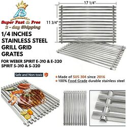 Grill Bbq Cooking Grids Replacement Set Of 2 Weber Genesis Parts Stainless Steel