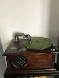 Gramophone Phonographe Francis Salabert Marque Depose Made In France Vintage